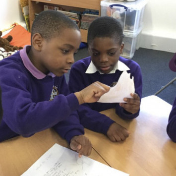 Year 1LV and Year 5 sharing their poetry