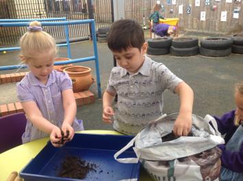 Nursery make Easter Gardens