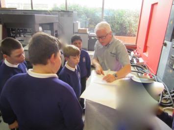 Year 6 group visits Heidelberg Graphic Equipment Ltd