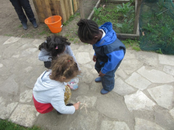 Outdoor learning at the Salopian Garden