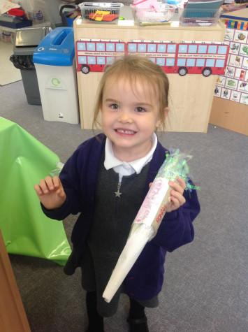 Nursery make rockets for homework