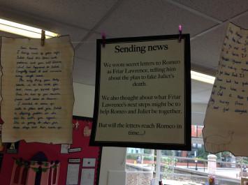 Romeo and Juliet: Sending news