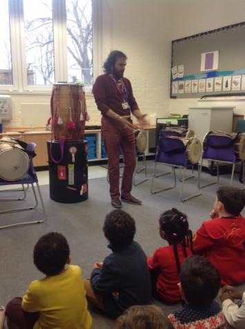 RB get drumming!