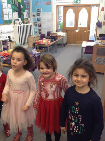 RB celebrate with a Christmas party