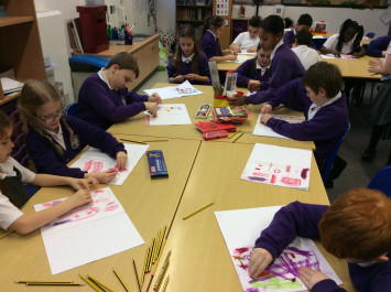 4L learn new art skills with oil pastels
