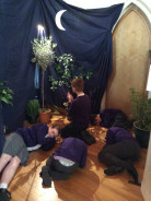 St Paul's Pupils Visit the Easter Prayer Garden
