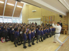 GKR Karate visit for Monday's school assembly