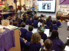 3L and RR sharing poetry