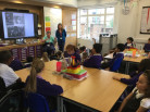 Year 5 visited by Mrs Blanch to learn about her experience of evacuation during WWII