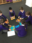 Year 2 maths group solves problems
