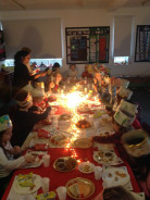 Year 2 have a Christmas Banquet