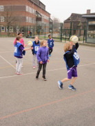 The Netball Team play at The Green School
